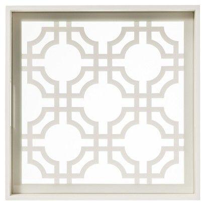 Target : White Lattice Decorative Tray