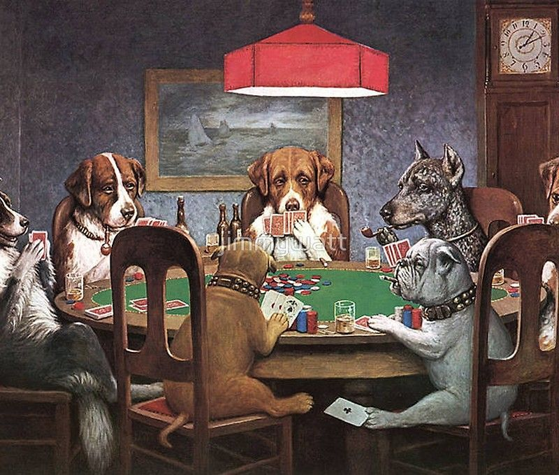 Dogs Playing Poker Tapestry By Jimmywatt Dog Wall Art Dogs Playing Poker Most Famous Paintings
