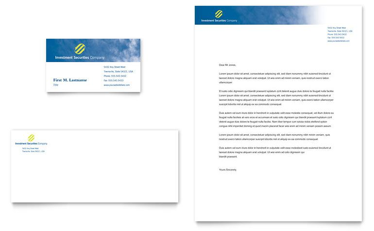 [ Investment Securities Company Business Card Amp Letterhead Word Template  Bookletemplate ]   Best Free Home Design Idea U0026 Inspiration  Free Word Letterhead Template