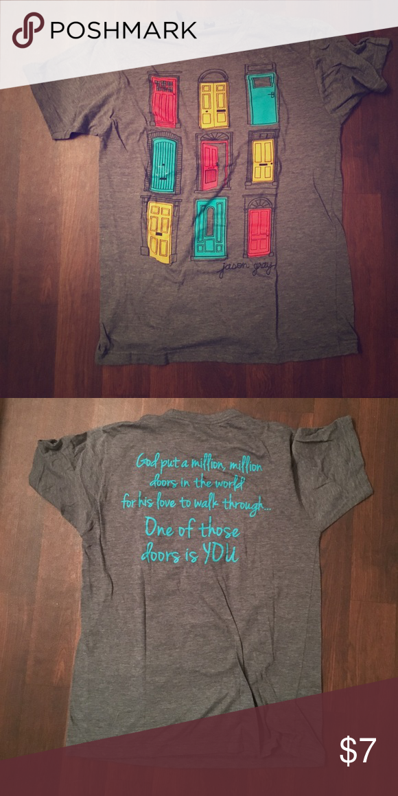 Jason Gray T-shirt God put a million doors in the world and one of those doors is you Tee! Religious. Christian. Comfy shirt Jason Gray Tops Tees - Short ... & Jason Gray T-shirt | Jason gray Comfy and Short sleeves