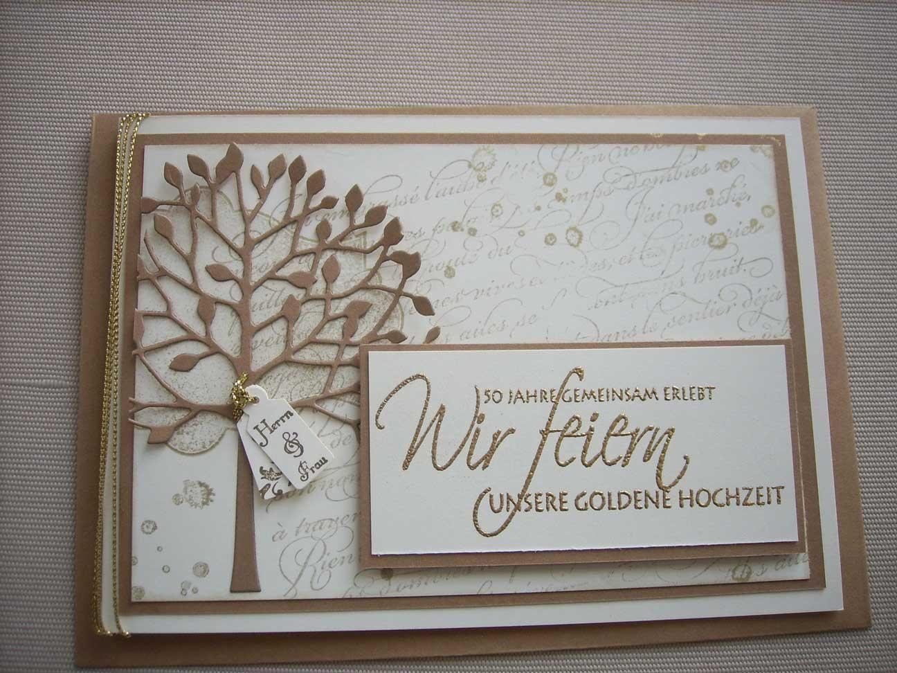 einladungskarten goldene hochzeit selbst gestalten, Einladung