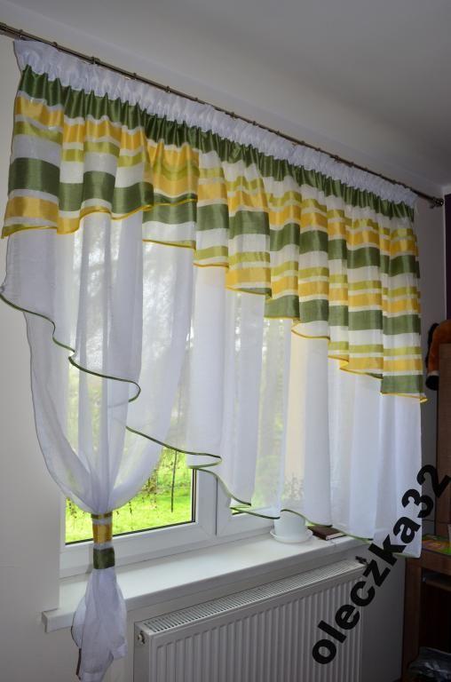 firany firanki firana skos 4m z lambrekinem firany pinterest gardinen und vorh nge. Black Bedroom Furniture Sets. Home Design Ideas