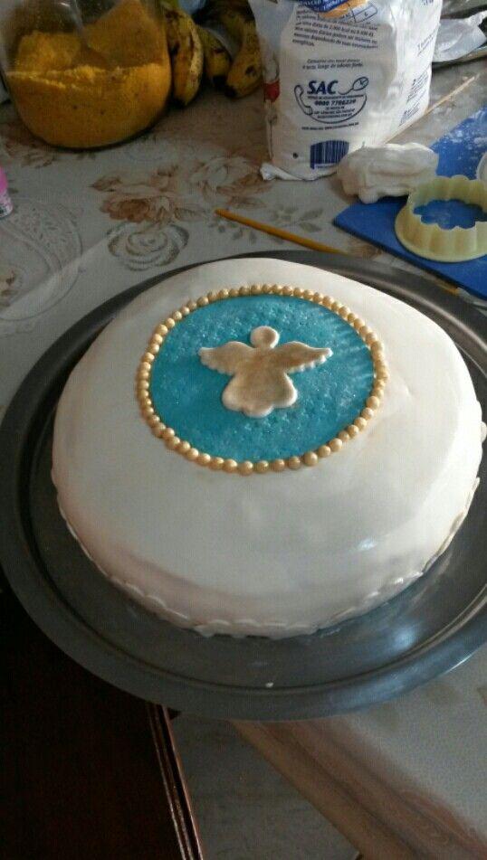 bolo teste de batizado