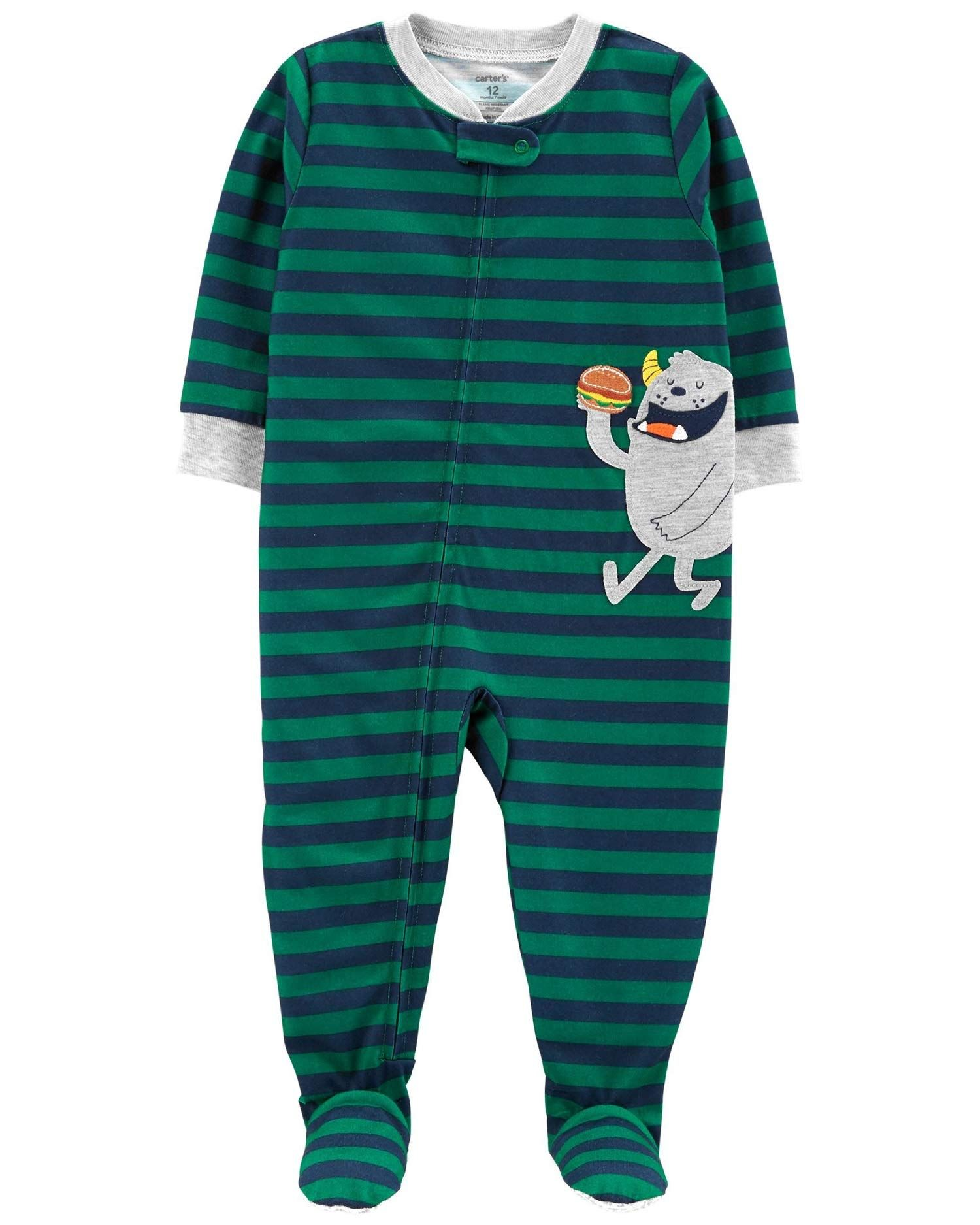 Carter S Baby Boys 1 Piece Monster Poly Pjs See This Great Product This Is An Affiliate Link In 2020 With Images