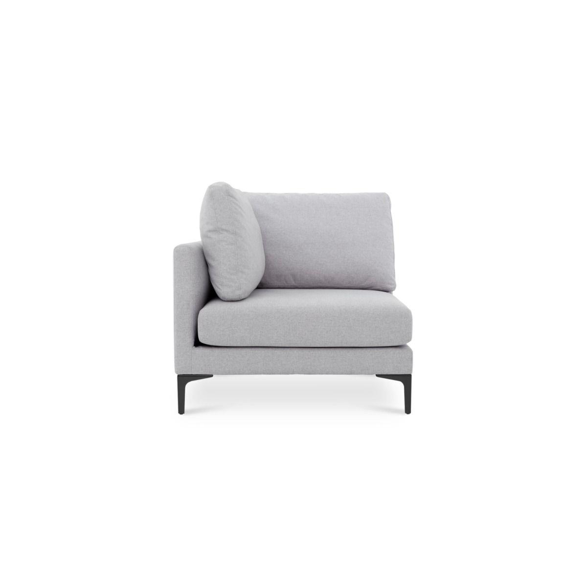Adams Corner Sofa Dove Grey Black Leg In 2019 Corner Sofa