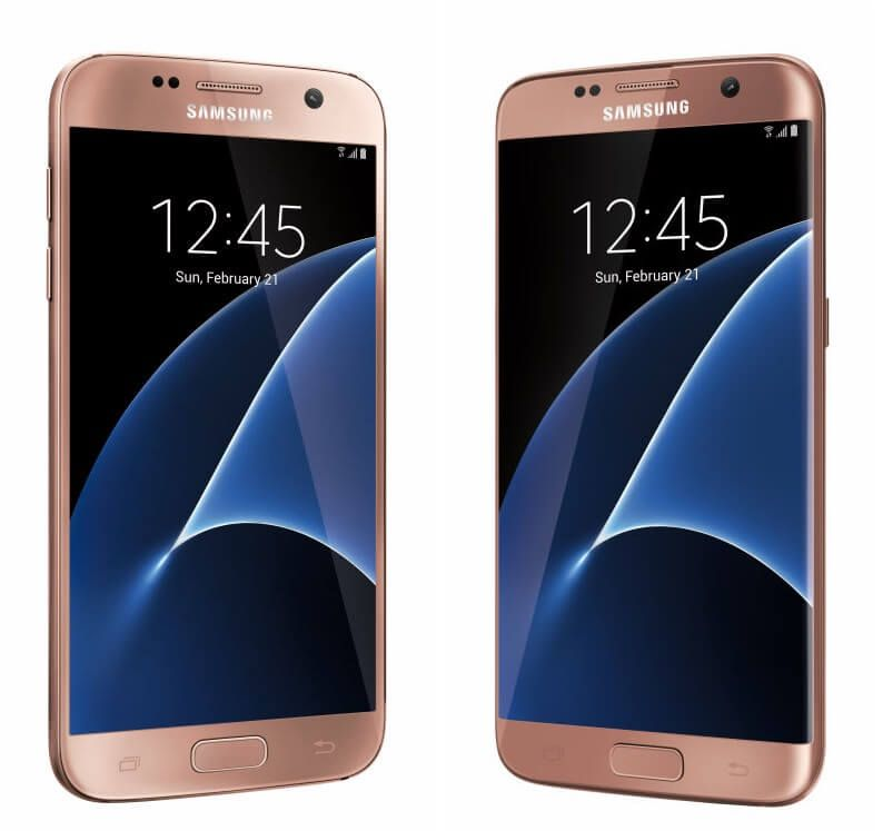 Pink Gold Galaxy S7 S7 Edge Available From Best Buy Aug 28 Gold Galaxy Cool Things To Buy Galaxy S7