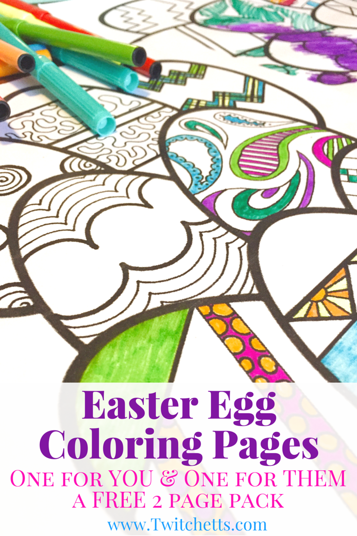 Easter Egg Coloring Pages - Easter Printables | Primavera