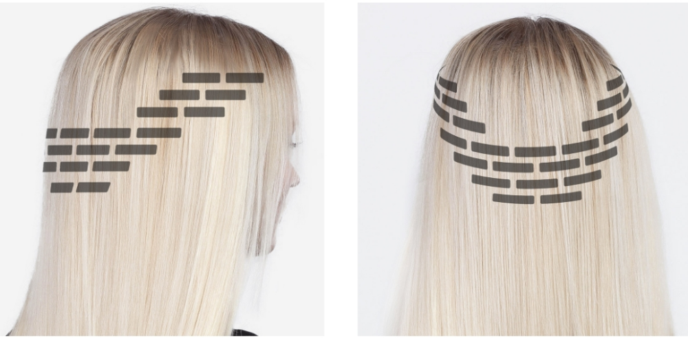 Placement Of Tape In Extensions On Side Of Head Google Search Tape In Extensions Tape In Hair Extensions Hair Extensions Tutorial