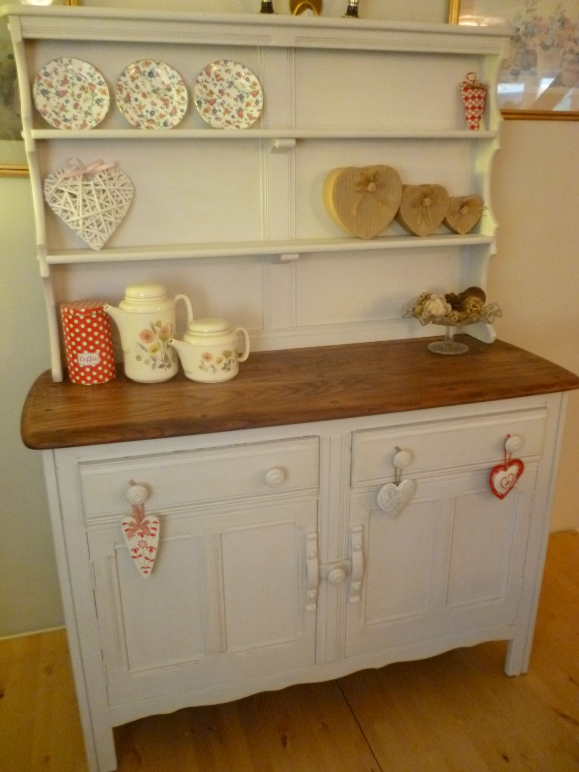 Ercol Welsh Dresser Given A Shabby Chic Faceliftrubbed Down And Painted In Farrow Balldistressed Waxed