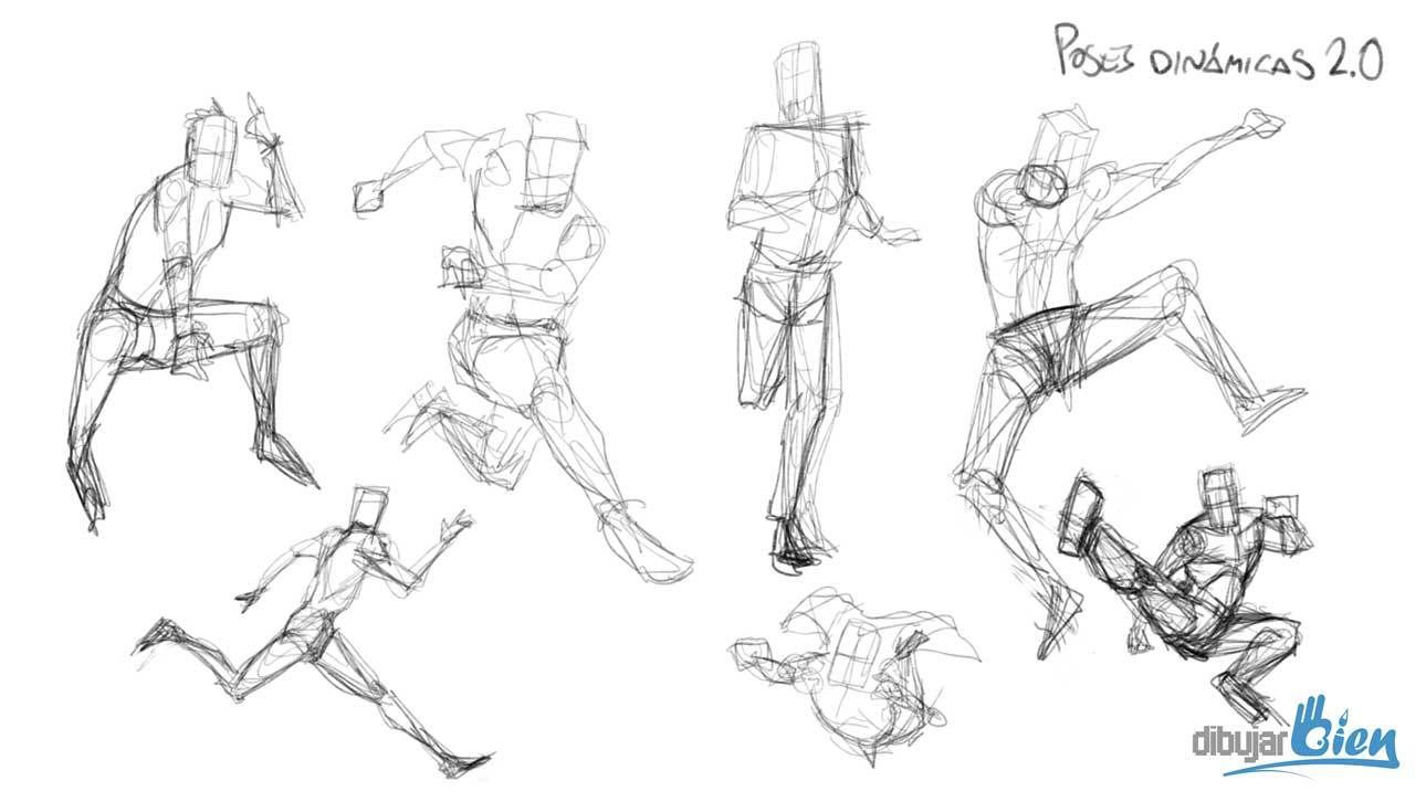 Truco Para Aprender A Dibujar Personas La Linea De Movimiento Aprende A Dibujar La Figura Humana Con Dibujos De Personas Dibujo De Personas Dibujo Movimiento