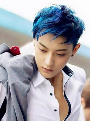 K Pop Idols That Contribute To The Rainbow Of Hair Colors Koreaboo Tao Exo Tao Blue Hair