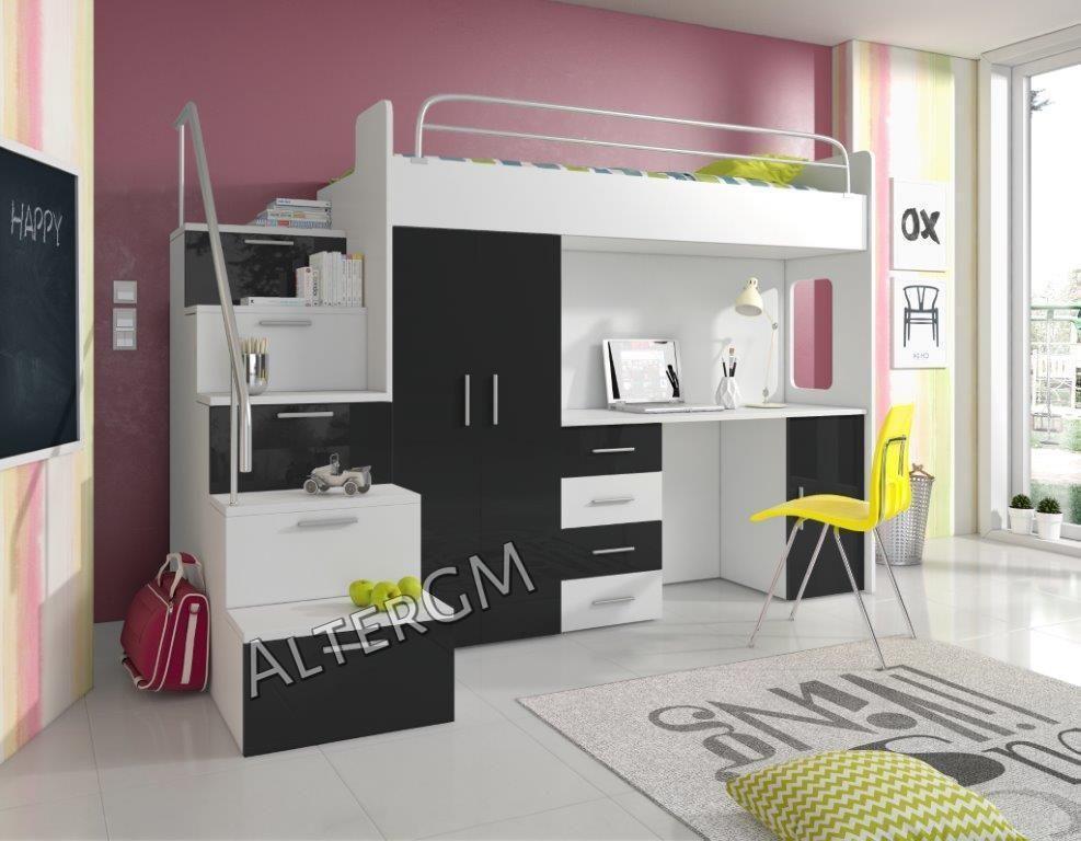 Details about ALTA 4S bunk bed, wardrobe, desk, kids childrens ...