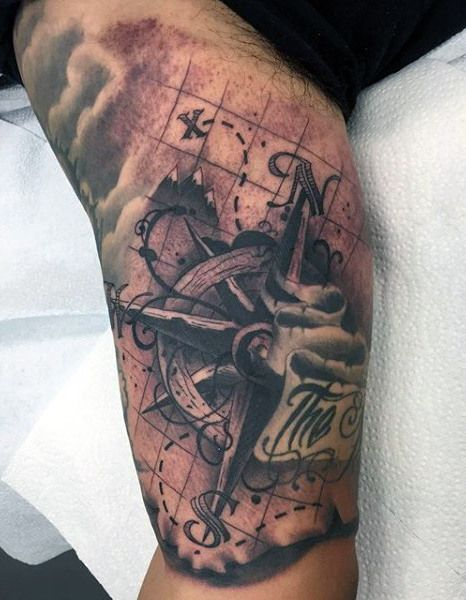 Top 63 Compass Tattoo Ideas 2020 Inspiration Guide Nautical