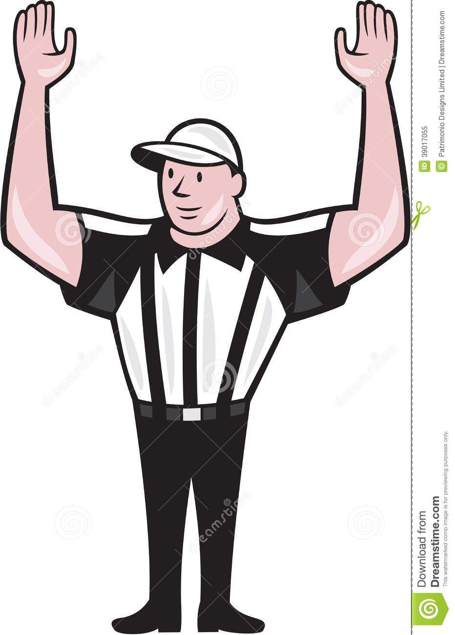 Football Referee Signals Touchdown American football ...