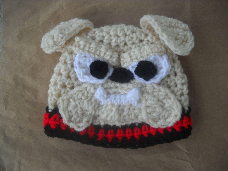 329d3c1cc16 Georgia Bulldog Crochet Hat Newborn to Child by KendalsCreationsSt
