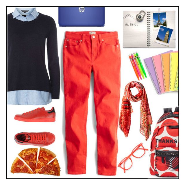"""""""School on Monday"""" by kleinwillwin ❤ liked on Polyvore featuring J.Crew, Dorothy Perkins, STELLA McCARTNEY, adidas and Desigual"""