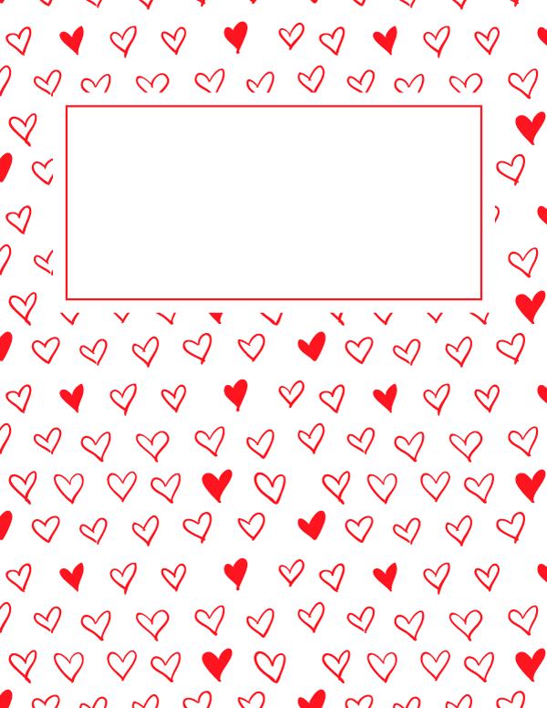Free Printable Red Heart Binder Cover Template Download The Cover