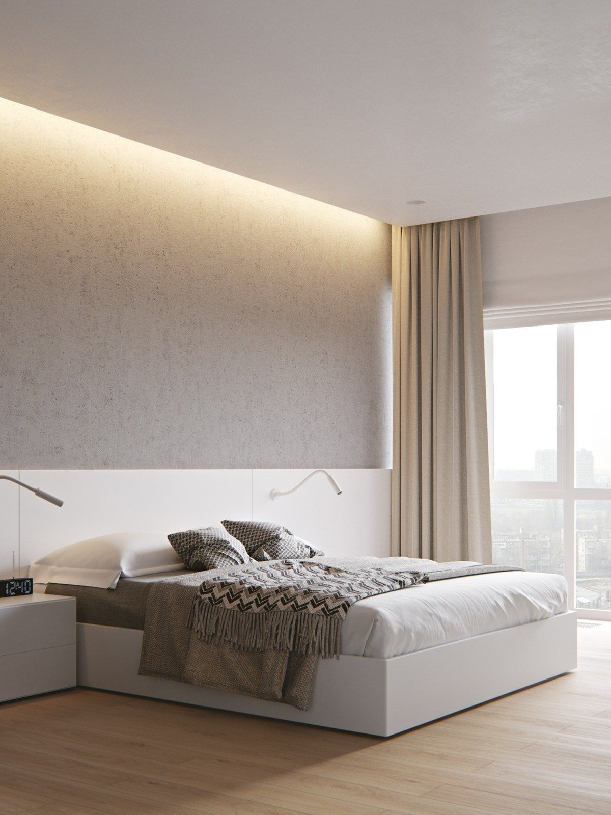 2 Homes With Similar Hues Modern Minimalist Bedroom Minimalist Home Interior Modern Bedroom
