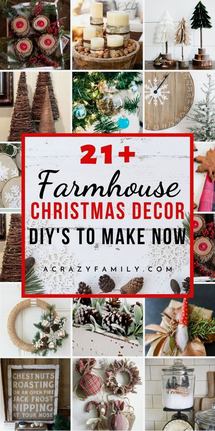 Photo of 21+ Awesome Rustic Farmhouse Christmas Decorations to DIY