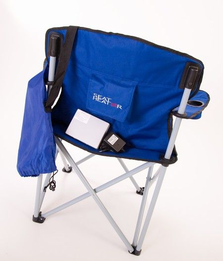 Chairs In A Bag Desk Chair Exercises Portable Heated Camping By Heat Seat This Up Against The Fire Both Sides Are Staying Warm