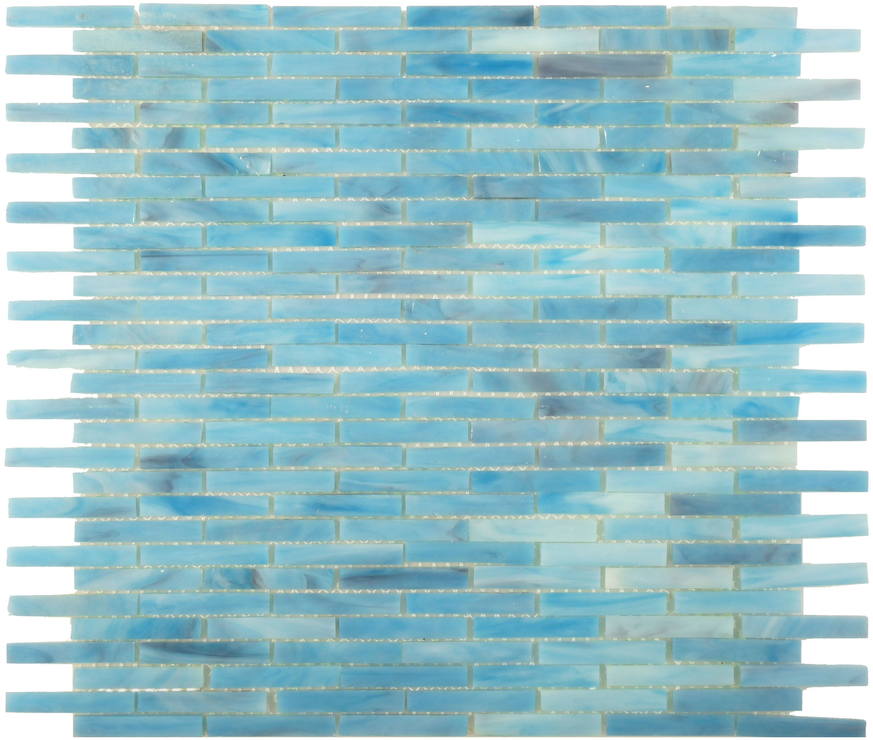 Add A Coastal Appeal To Your Kitchen With The Oasis: ISI Tiffany Glass Series, Uniform Brick, Ocean Blue