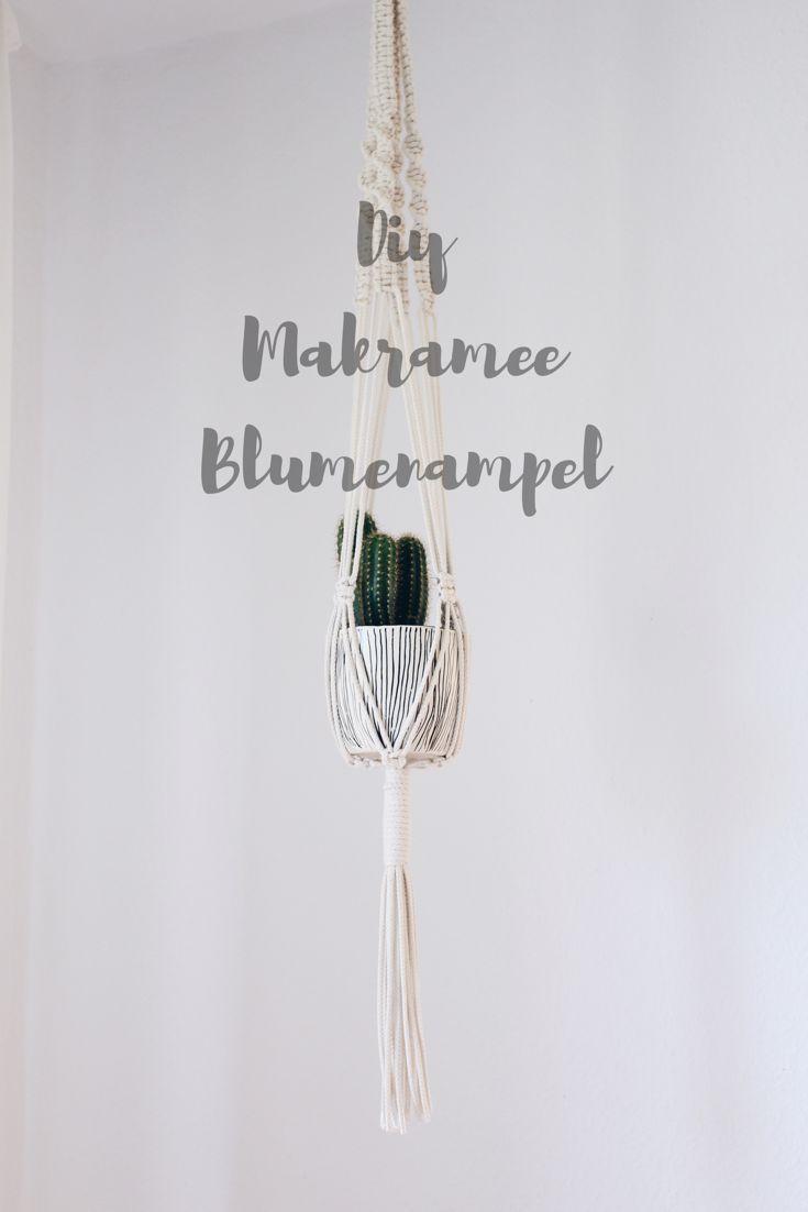 Diy Makramee Blumenampel selber machen #gartendekoselbermachen