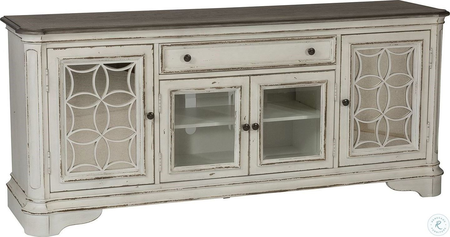 Farmhouse Reimagined Antique White Server White Tv Stands Blue Tv Stand Living Room Tv Stand