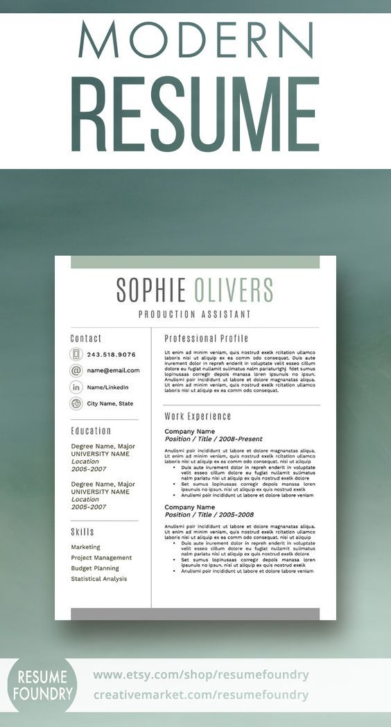 Stylish, best-selling resume template Includes 1, 2 or 3 page - email reference letter template