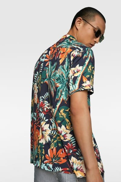 2acc20ec76 Tropical print shirt in 2019 | Products | Printed shirts, Tropical, Zara