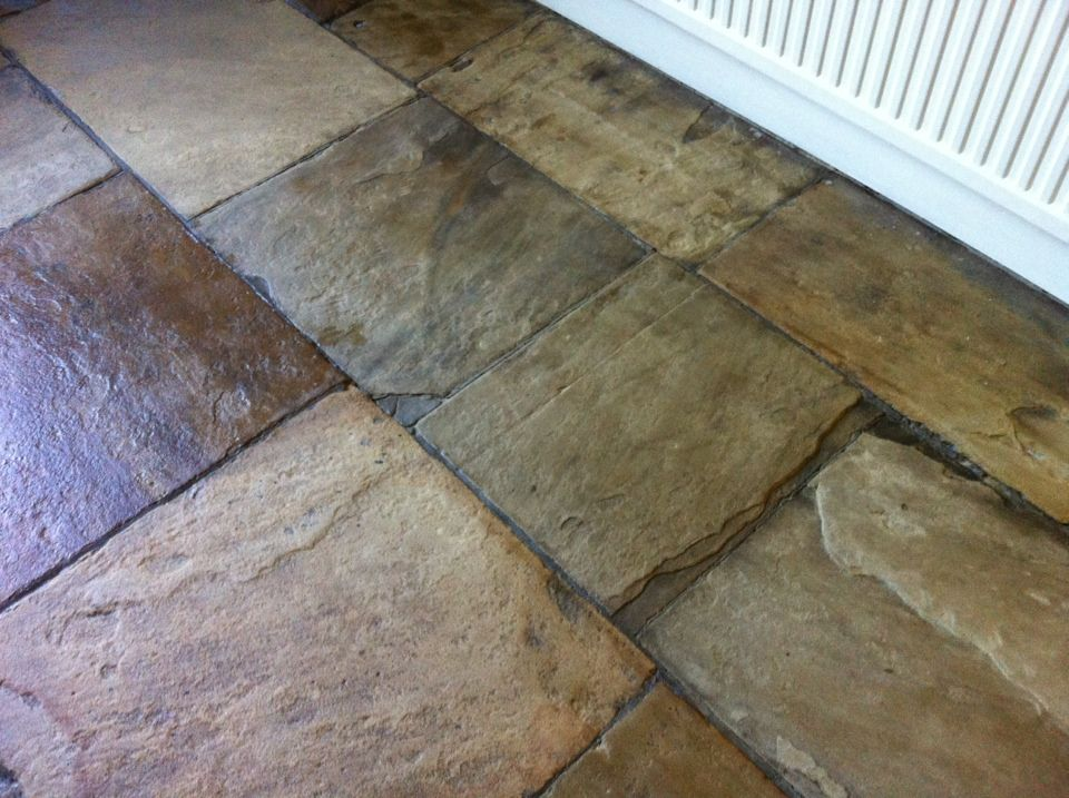 Stone Flooring Yorkshire Stone Floor In Ilkley After Cleaning And Sealing Stone Flooring Cheap Wooden Flooring Flooring