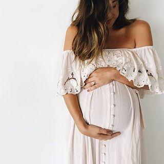 8163e5dec9b5c 10 Boho Decor Details Every Festival Wedding Needs…. Maternity Photoshoot  Dress, White Maternity