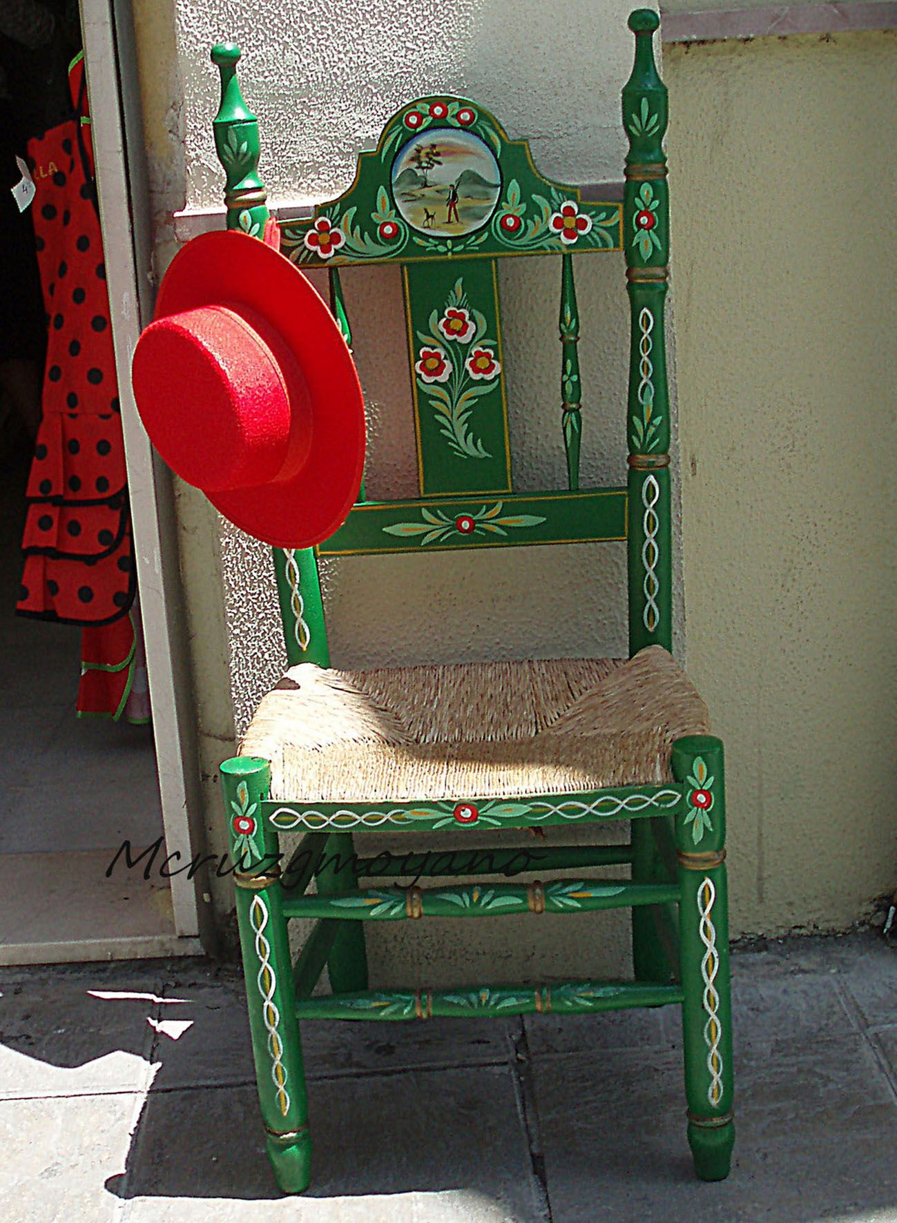 Silla Sevillana Y Sombrero Cordob S Muebles Pinterest Sillas  # Muebles Sevillanos