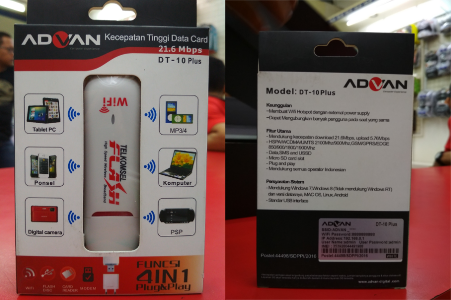 Advan DT10 Plus 4 In 1 USB Modem Portable Wifi Murah