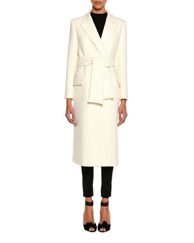 62d8c2743a TOM FORD Tailored Wool Long Coat With Belt