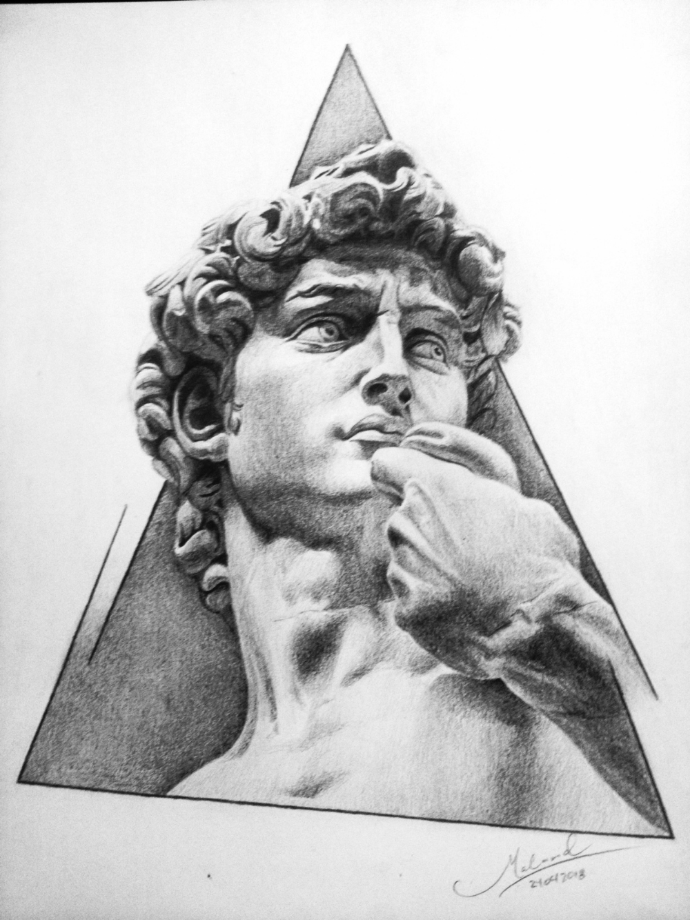 Art Section David The Miguel Angel Realistic Drawing Steemit Realistic Drawings Angel Drawing Miguel Angel