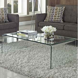 Modway Transparent Coffee Table Coffee Table