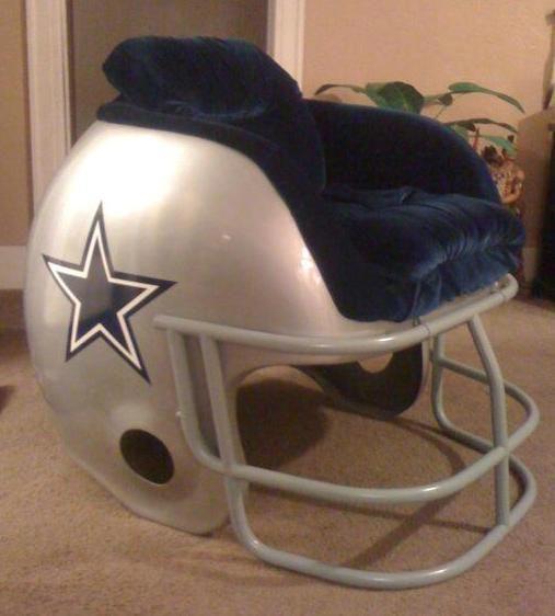 cowboys football helmet chair art deco chairs uk 10 innovative ideas a esurancefantasytailgate wrong team but great idea
