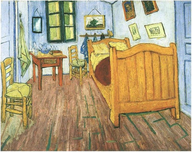 Vincent Van Gogh, Bedroom at Arles, 1888. This painting gives me a on the bedroom van gogh, the church at auvers, yellow house, sunday afternoon on the island of la grande jatte, water lilies, vincent van gogh, bedroom van gogh painting oil, room at arles van gogh, van gogh museum, starry night over the rhone, olive trees, bedroom vincent van gogh ppt, room in arles van gogh, wheat field with crows, sesame street bedroom van gogh, wheat fields, cafe terrace at night, bedroom in arles 1889, portrait of dr. gachet, the starry night, self-portraits by vincent van gogh, the potato eaters, church at arles van gogh, bedroom at arles by van gogh, bedroom in arles high resolution,