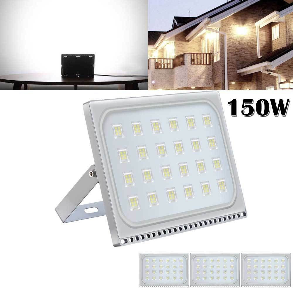 4 X 150w Led Flood Light Outdoor Slim Garden Landscape Spot Lamp 110v Cool White Led Flood Flood Lights 150w