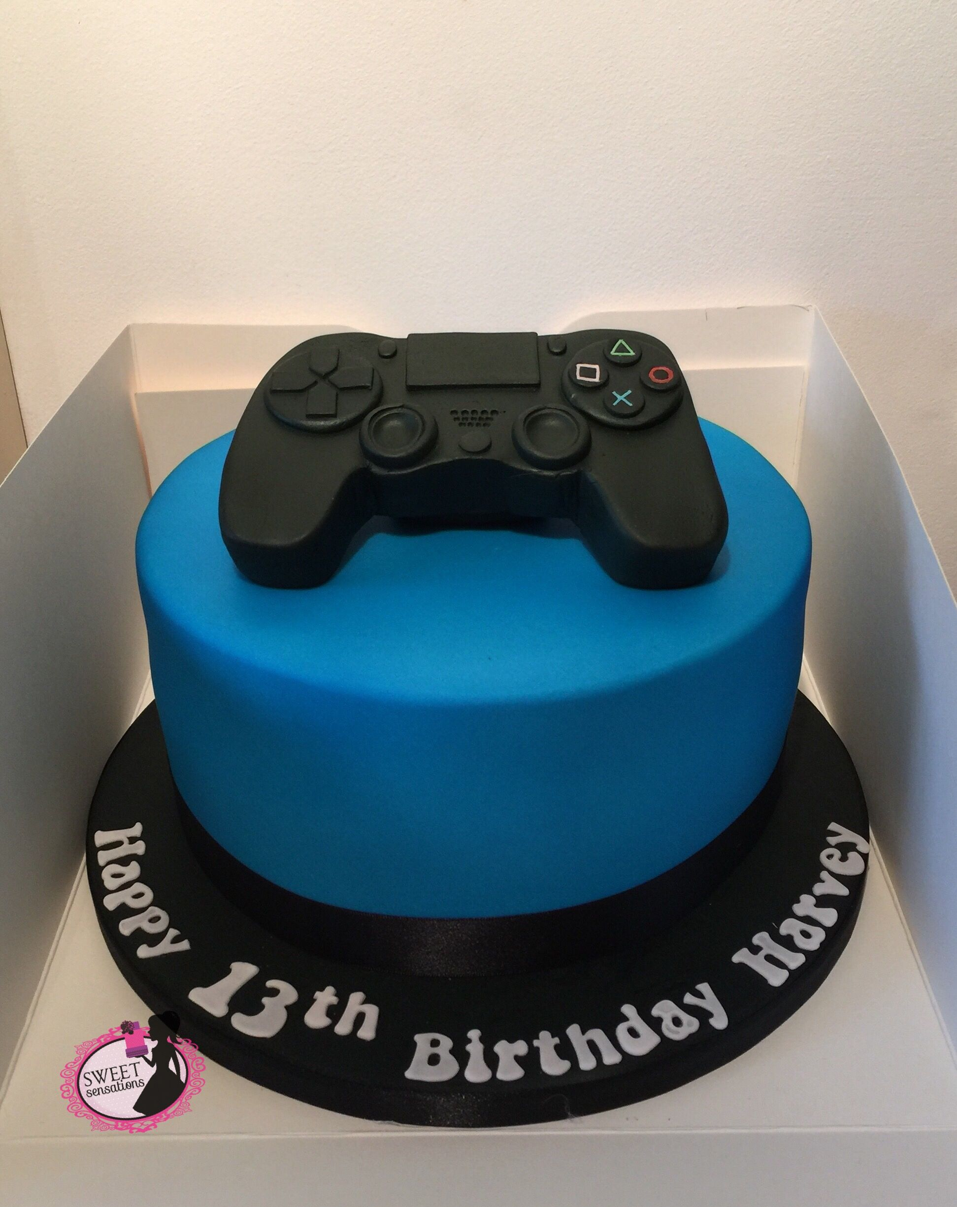 Sensational Ps4 Cake Cool Birthday Cakes New Birthday Cake Playstation Cake Funny Birthday Cards Online Fluifree Goldxyz