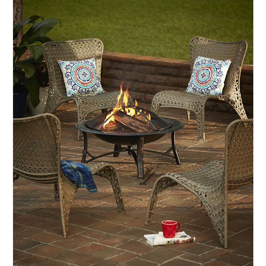 Shop Garden Treasures Tucker Bend Warm Gray Steel Woven Patio