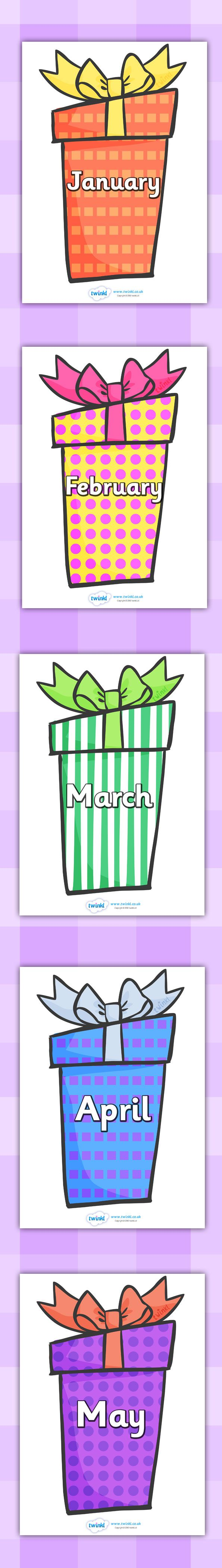 Calendar Ideas Twinkl : Twinkl resources months of the year on birthday presents