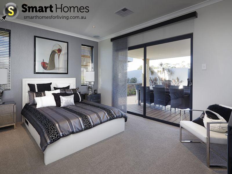 Master Suite Modern Design With Sliding Door Entry To Alfresco Smarthomesforliving Masterbedroom Mastersuite Homedesigns New Home Designs Home House Design