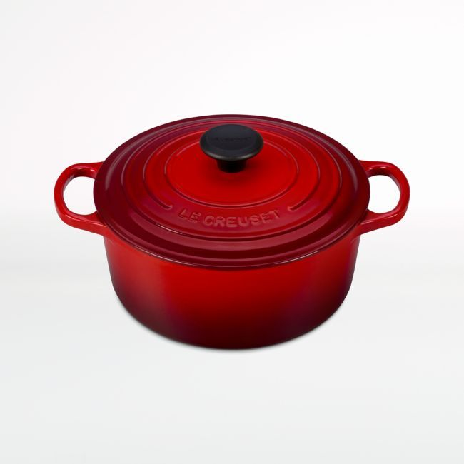 Le Creuset Signature Cerise 4.5-Qt. Round Dutch Oven | Crate and Barrel