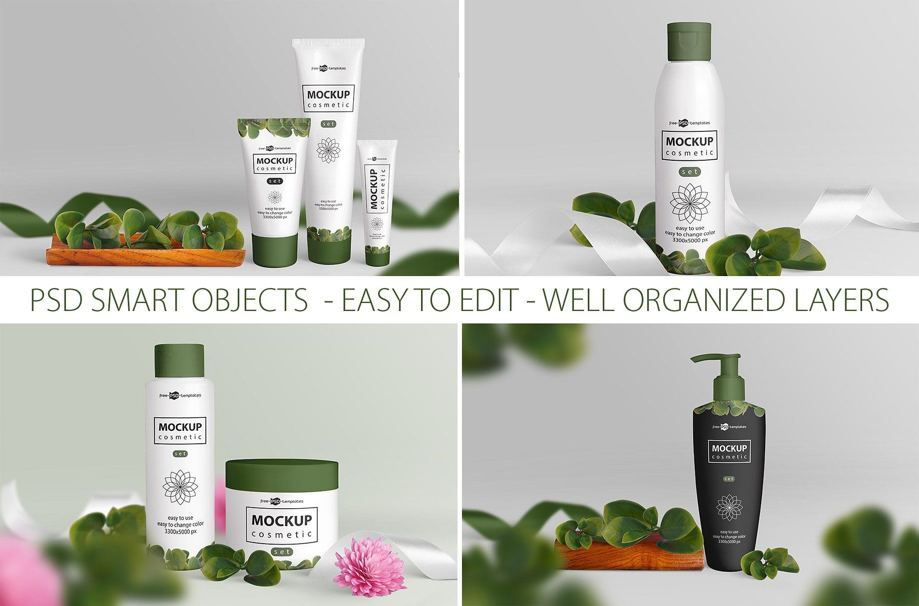 Cosmetic Mockup Set Cosmetics Mockup Free Cosmetics Cosmetics
