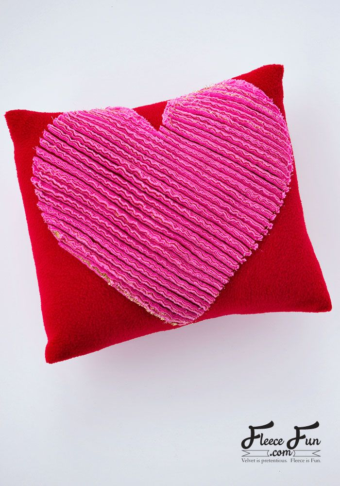 How To Make A Chenille Heart Pillow Tutorial Valentines