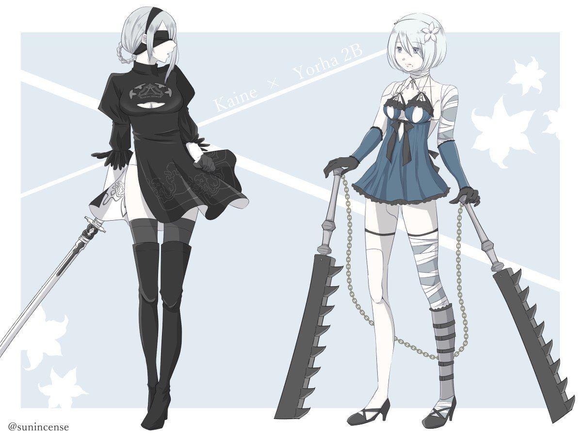 Character Design Nier Automata : Nier automata b kaine pinterest