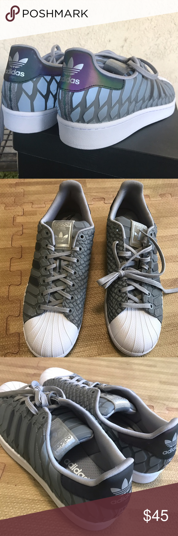 adidas superstar xeno 3m riflettente sz 11 nuovi xeno riflettente sz 11