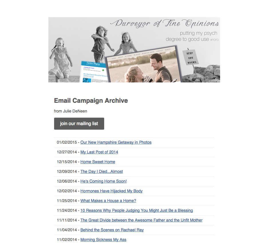 We Love MailChimp For Email Newsletters And RSS Feeds
