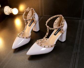 Sa039 Sepatu Heels Pesta Wanita 8cm Terbaru 2019 Sepatu Wanita